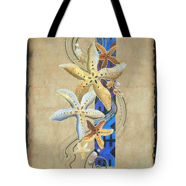 Starfish On Blue Masi Tote Bag