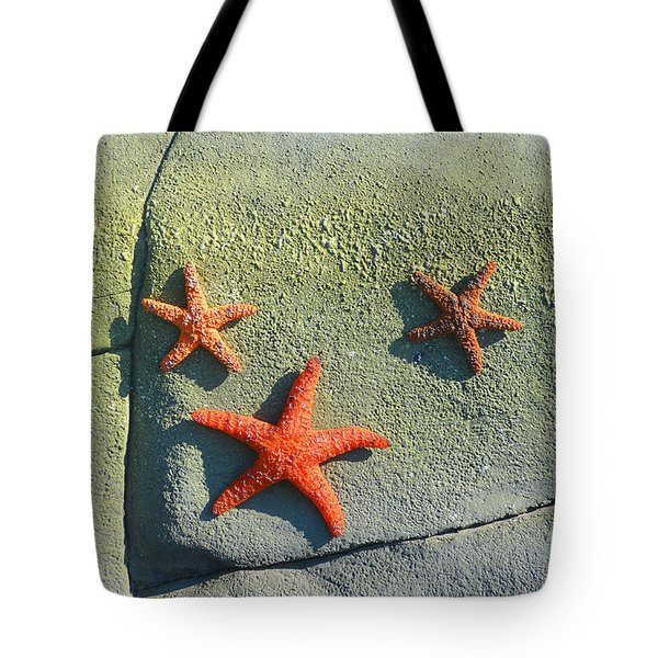 Starfish On The Rocks Tote Bag