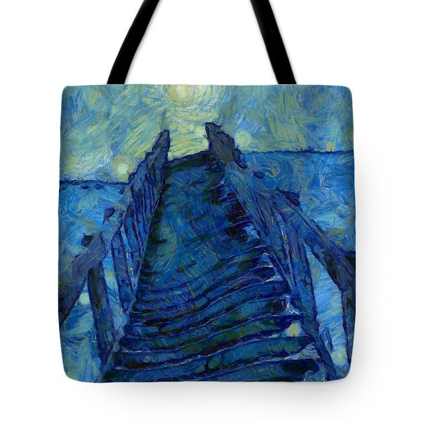 Stargate Stairs Tote Bag by Dan Sproul