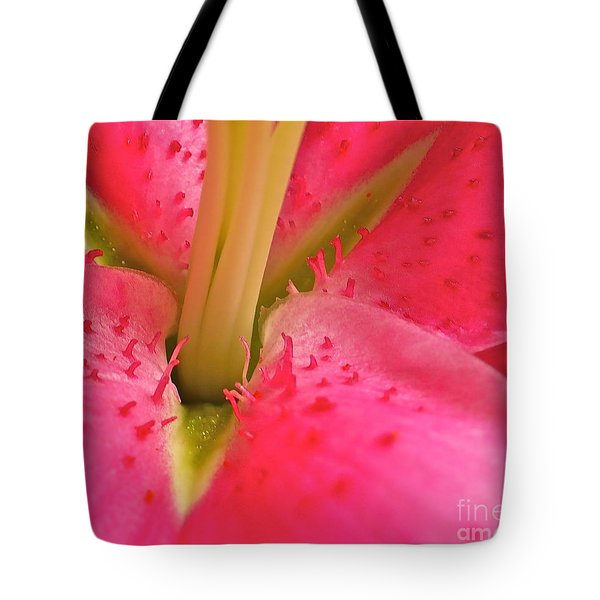 Tote Bag featuring the photograph Stargazer Lily by Linda Bianic