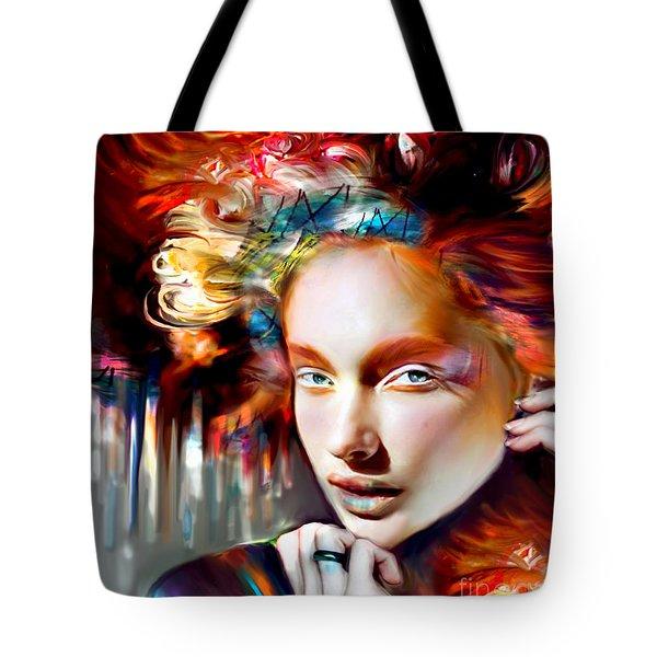 Stargirl I Bleed Color Tote Bag