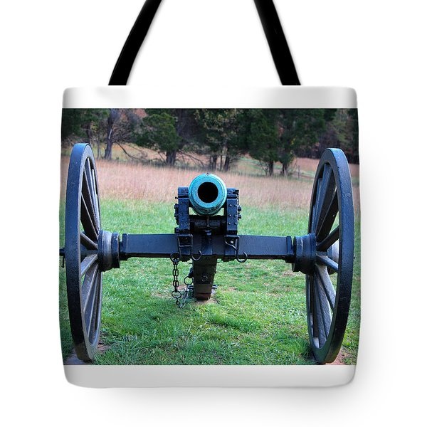 Staring Down The Barrel Tote Bag