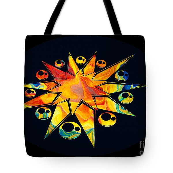 Staring Into Eternity Abstract Stars And Circles Tote Bag