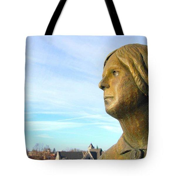 Staring Statue Tote Bag