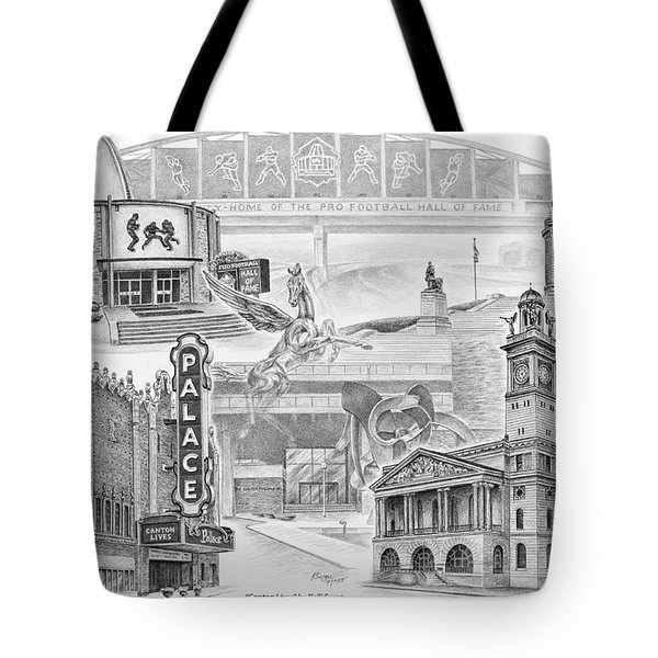 Stark County Ohio Print - Canton Lives Tote Bag