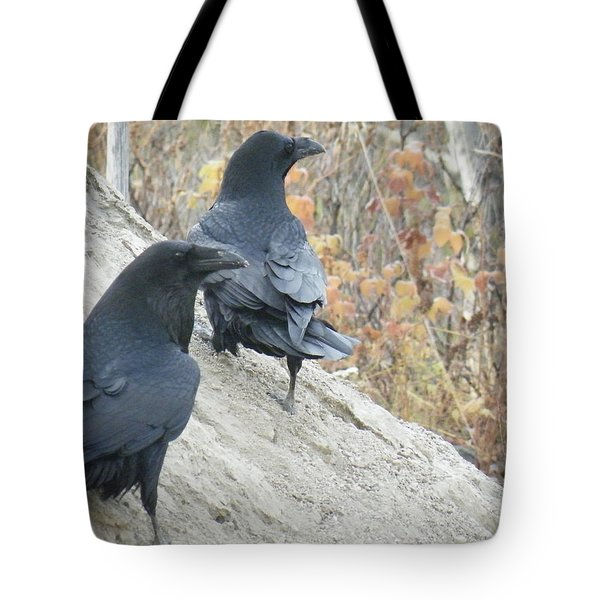Tote Bag featuring the photograph Stark Raven by Brian Boyle