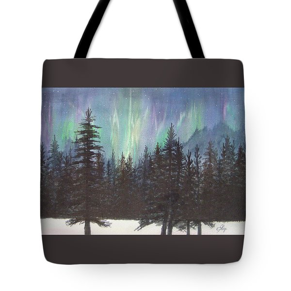 Tote Bag featuring the painting Starlight Dance by Gigi Dequanne