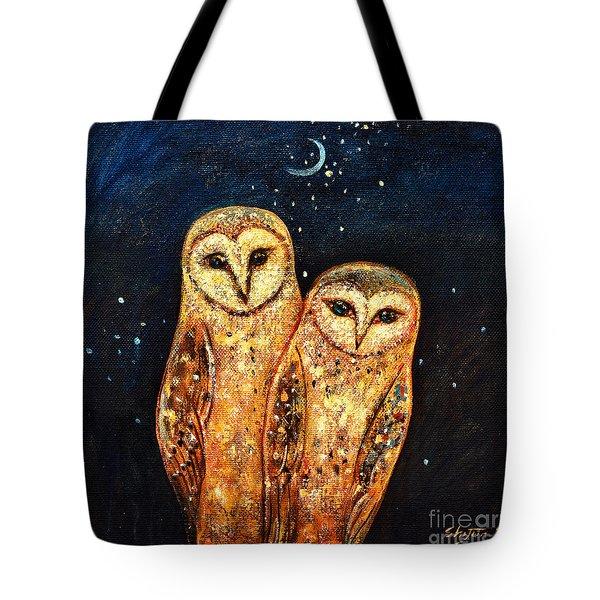 Starlight Owls Tote Bag by Shijun Munns