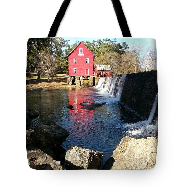 Tote Bag featuring the photograph Starr's Mill In Senioa Georgia 2 by Donna Brown