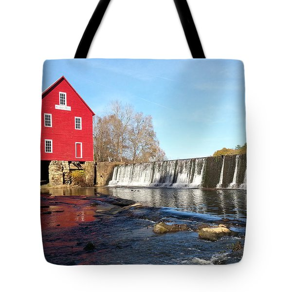 Tote Bag featuring the photograph Starr's Mill In Senioa Georgia 3 by Donna Brown