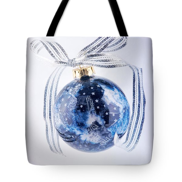 Christmas Ornament With Stars Tote Bag