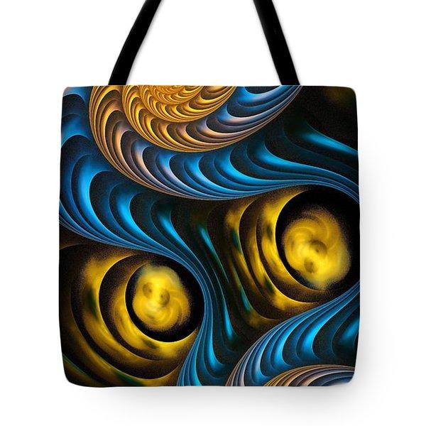 Starry Night - Fractal Art Tote Bag by Anastasiya Malakhova