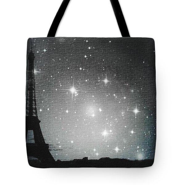Starry Night In Paris - Eiffel Tower Photography  Tote Bag