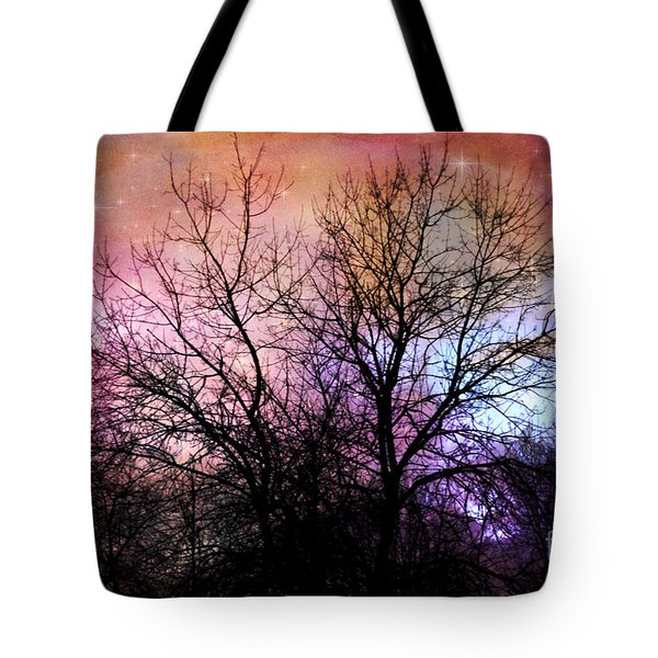 Tote Bag featuring the photograph Starry Night by Sylvia Cook