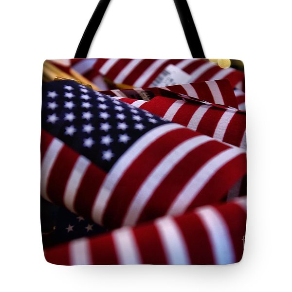 Tote Bag featuring the photograph Stars And Stripes by John S