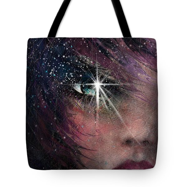 Stars In Her Eyes Tote Bag by Rachel Christine Nowicki