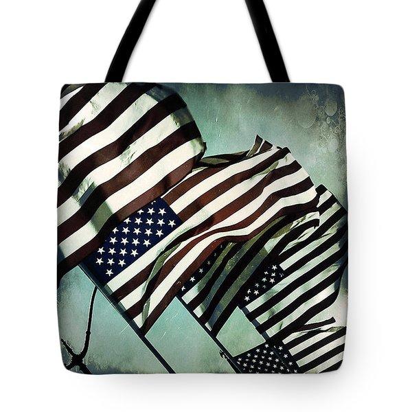 Stars N  Stripes Tote Bag by Trish Mistric
