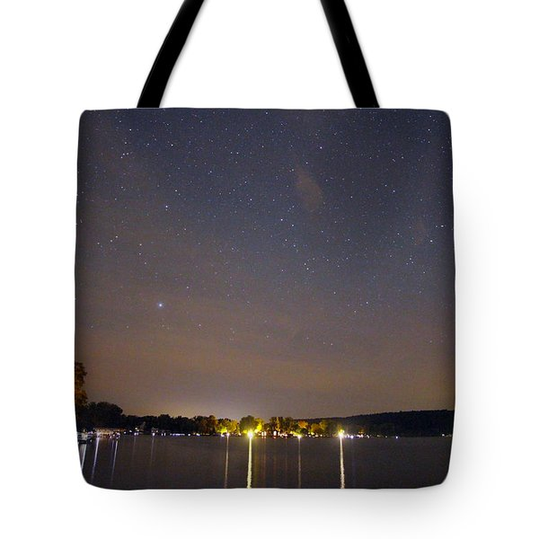 Stars Over Conesus Tote Bag by Richard Engelbrecht