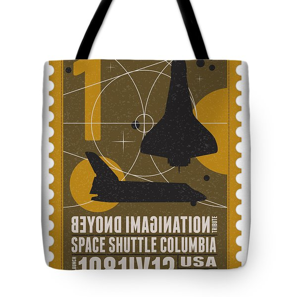 Starschips 01-poststamp - Spaceshuttle Tote Bag by Chungkong Art