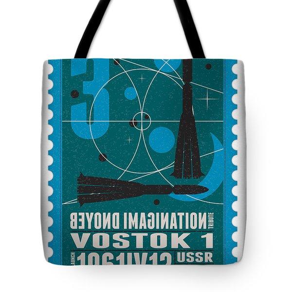 Starschips 03-poststamp - Vostok Tote Bag