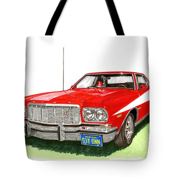 Starsky Hutch 1974 Ford Gran Torino Sport Tote Bag by Jack Pumphrey