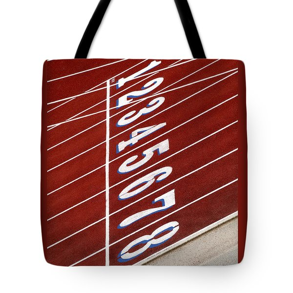 Track Starting Line Tote Bag