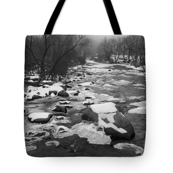 Starting To Freeze  Tote Bag
