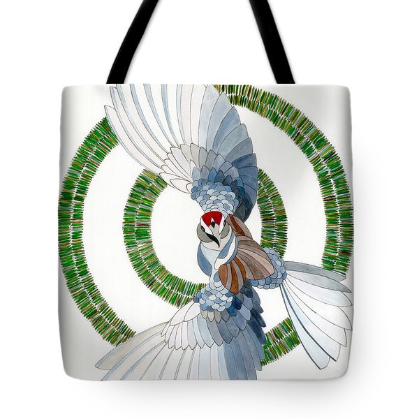 Tote Bag featuring the drawing Startled by Dianne Levy