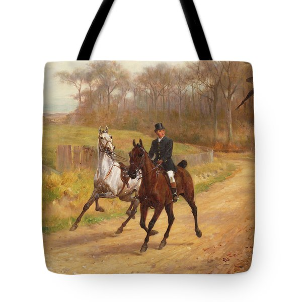 Startled Tote Bag by  Thomas Blinks