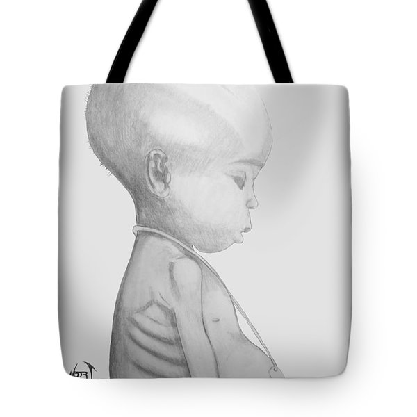 Starved African Girl Tote Bag by Justin Moore