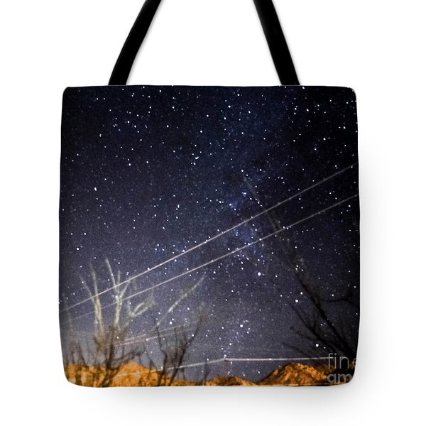 Stars Drunk On Lightpaint Tote Bag