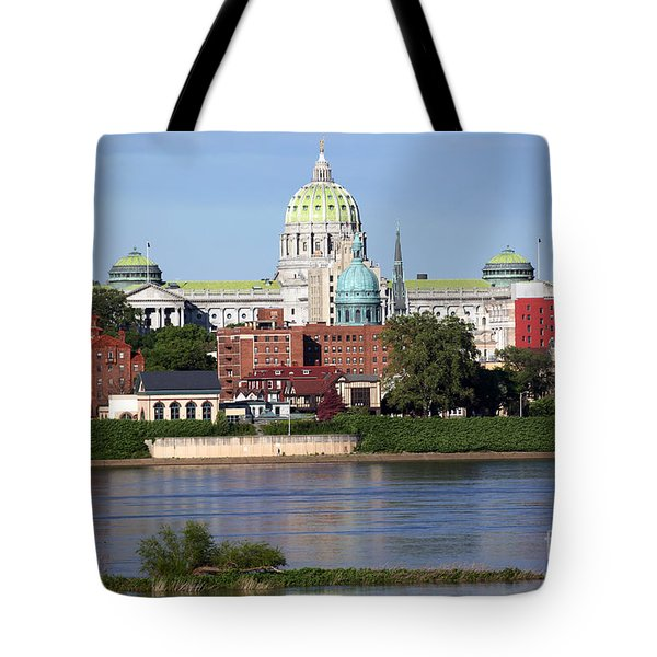 State Capitol Building Harrisburg Pennsylvania Tote Bag by Bill Cobb
