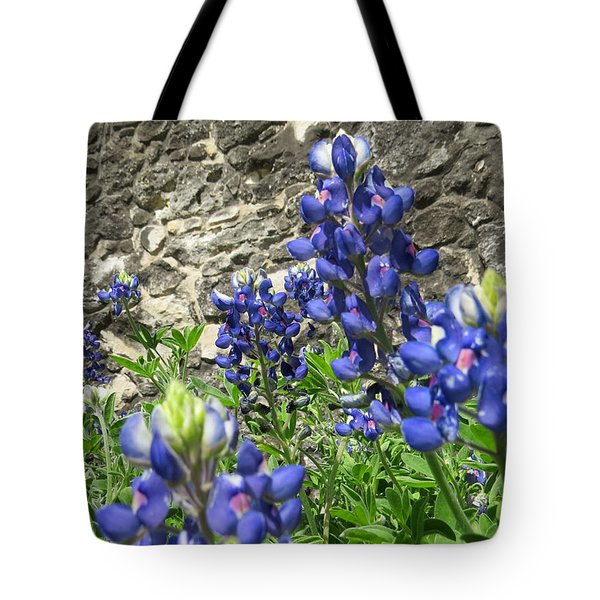 Tote Bag featuring the photograph State Flower Of Texas - Bluebonnets by Ella Kaye Dickey