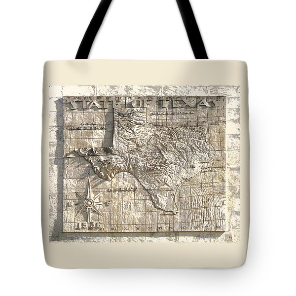 State Of Texas Map  Tote Bag