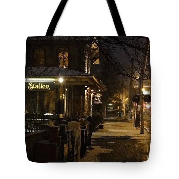 Station In Snow Tote Bag