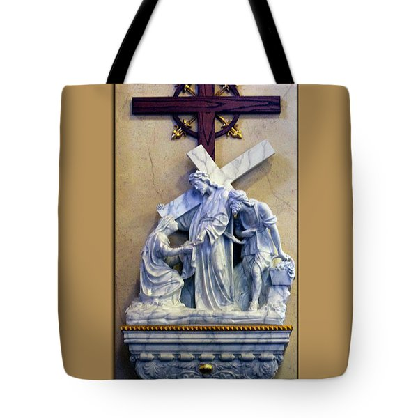 Station Of The Cross 06 Tote Bag by Thomas Woolworth
