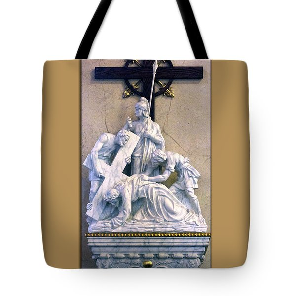 Station Of The Cross 07 Tote Bag by Thomas Woolworth