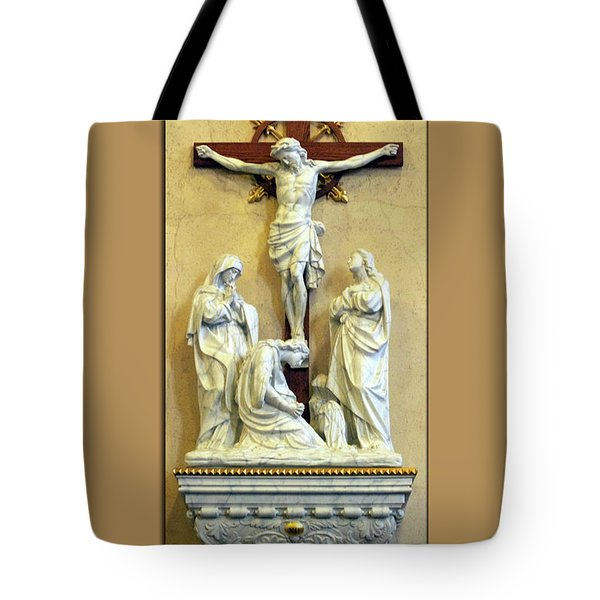 Station Of The Cross 12 Tote Bag by Thomas Woolworth