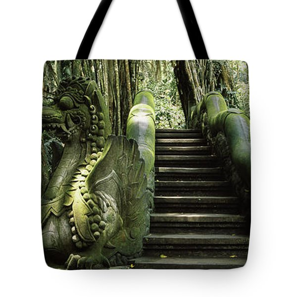 Statue Of Dragons In A Temple, Bathing Tote Bag
