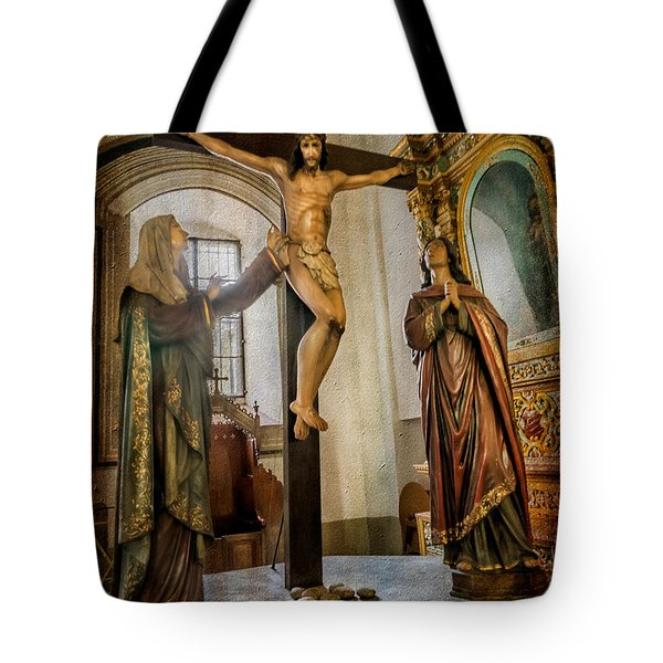 Tote Bag featuring the photograph Statue Of Jesus by Adrian Evans
