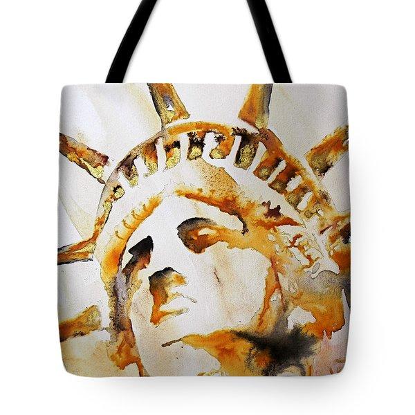 Statue Of Liberty Closeup Tote Bag