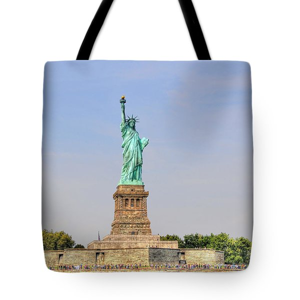 Statue Of Liberty Macro View Tote Bag by Randy Aveille