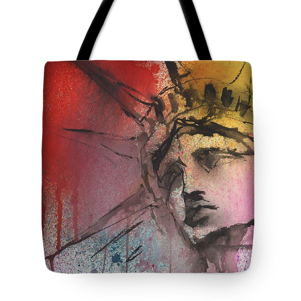 Statue Of Liberty New York Painting Tote Bag