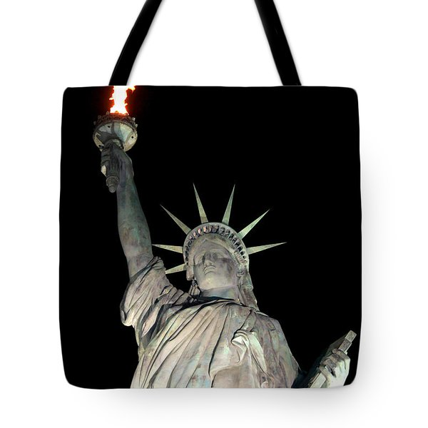 Statue Of Liberty Replica In Alabama Tote Bag by Kathy  White