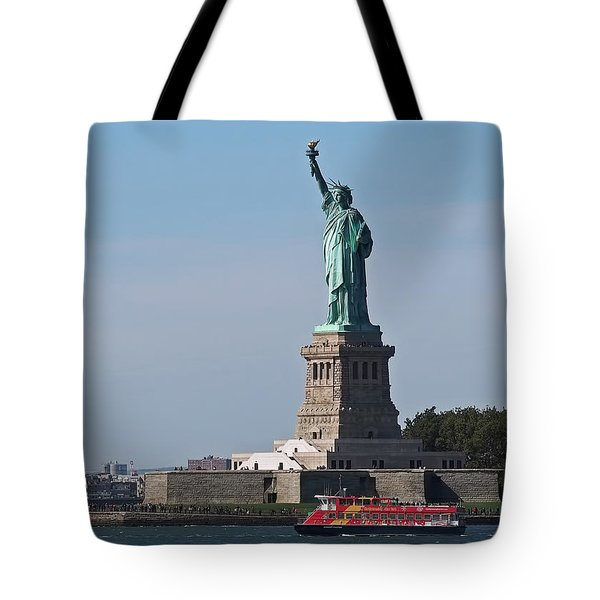 Tote Bag featuring the photograph Statue Of Liberty by Rona Black