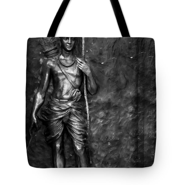 Statue Of Lord Sri Ram Tote Bag