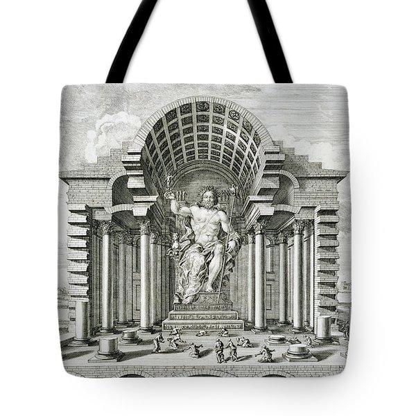 Statue Of Olympian Zeus Tote Bag by Johann Bernhard Fischer von Erlach