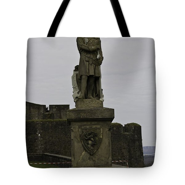 Statue Of Robert The Bruce On The Castle Esplanade At Stirling Castle Tote Bag