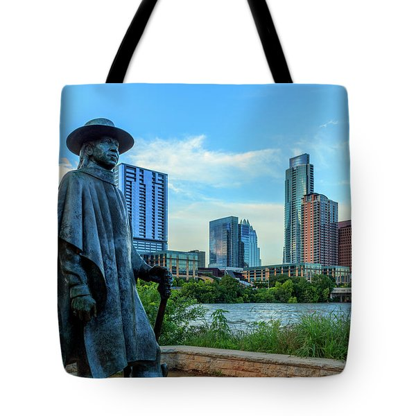 Statue Of Stevie Ray Vaughan Tote Bag