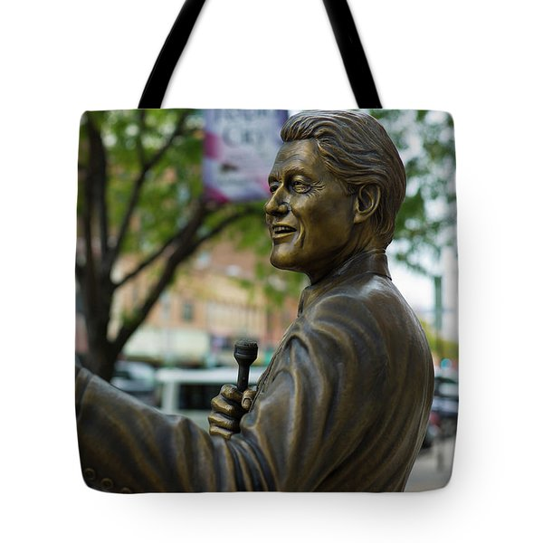 Statue Of Us President Bill Clinton Tote Bag